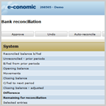 Thumbnail of Bank reconciliation in e-conomic