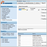 Thumbnail of Chart of accounts in e-conomic